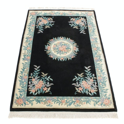 5'9 x 8'9 Hand-Knotted Chinese Peking Rug, 1980s