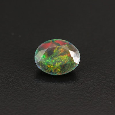 Loose 2.81 CT Oval Faceted Opal