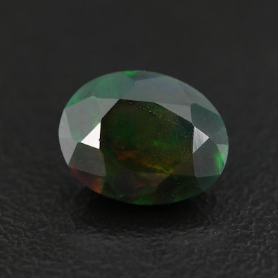 Loose 1.67 CT Oval Faceted Opal