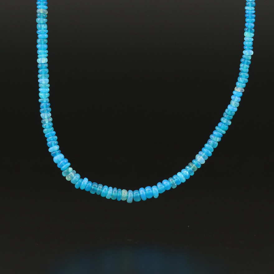Graduated Opal Necklace with Sterling Clasp