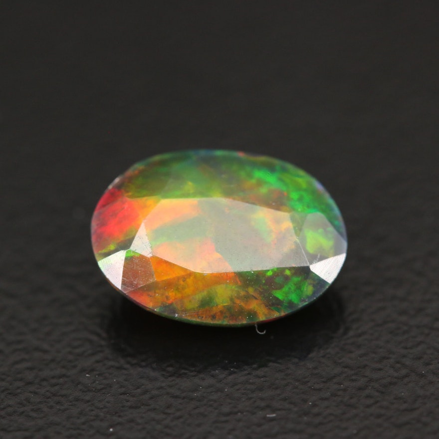 Loose 1.75 CT Oval Faceted Opal