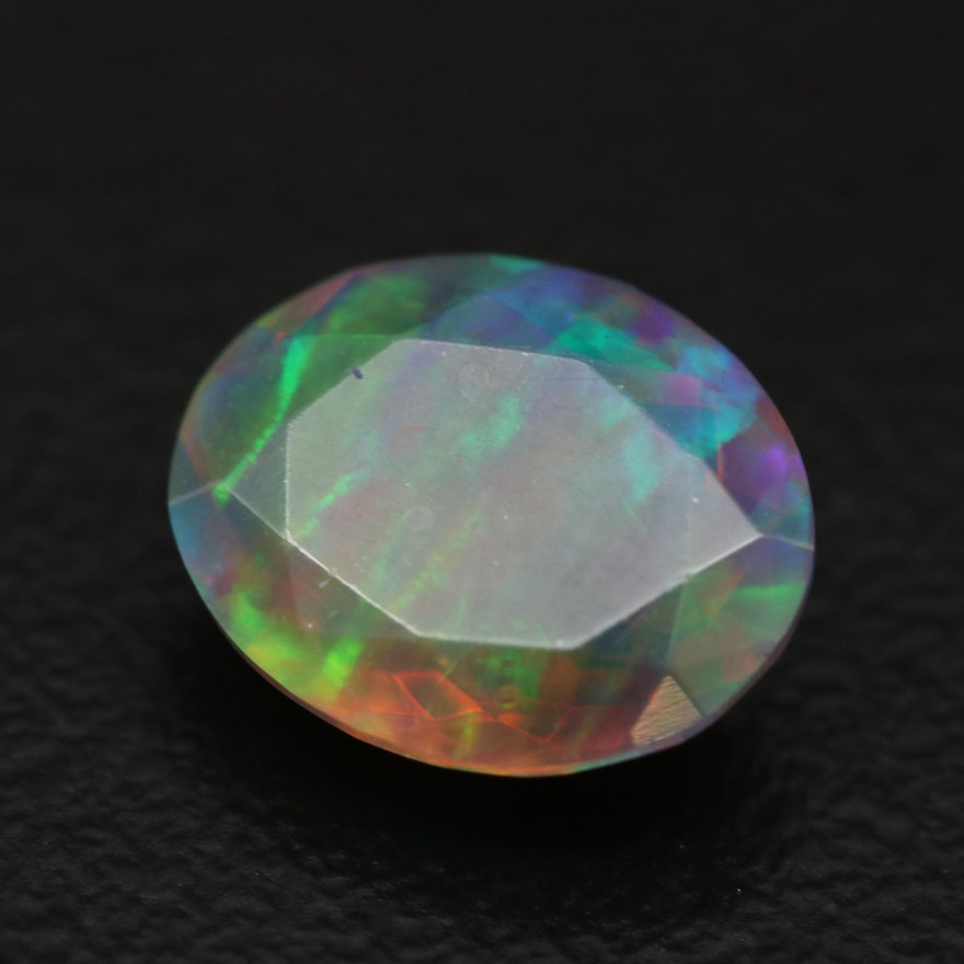 Loose 1.70 CT Oval Faceted Opal
