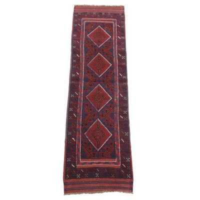 2'1 x 8' Handwoven Afghani Turkoman Runner, 2000s