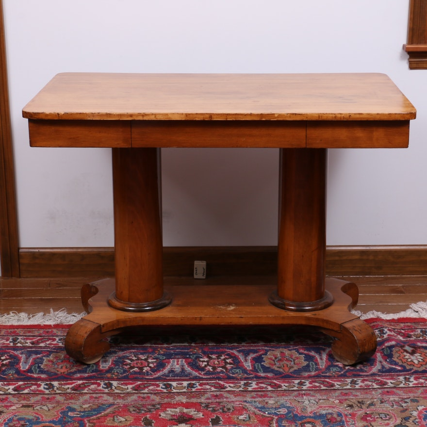 Empire Revival Library Table, Late 19th/Early 20th Century