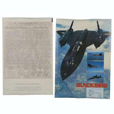 "Lockheed SR-71 ""Blackbird"" and Declaration of Independence Posters"
