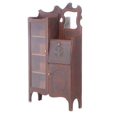 American Oak Side-by-Side Secretary Bookcase, Late 19th/Early 20th Century