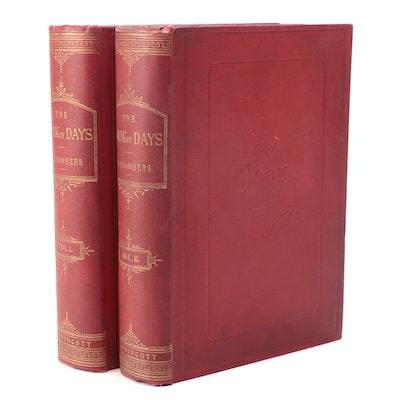 """Complete """"Book of Days"""" Two-Volume Set Edited by R. Chambers, Mid/Late 19th C."""