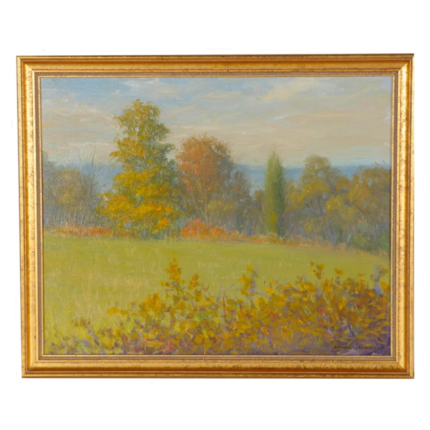 Stephen Jenkins Impressionist Style Landscape Oil Painting