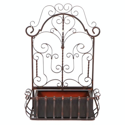 Scroll Metal Wall-Mount Garden Planter