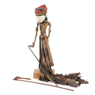 Indonesian Wayang Golek Rod Puppet, Late 19th to Early 20th Century