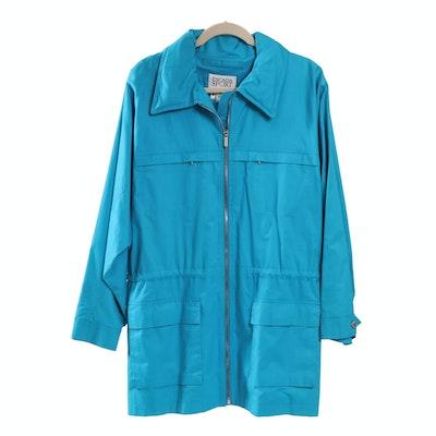 Escada Sport Blue Zipper Front Jacket