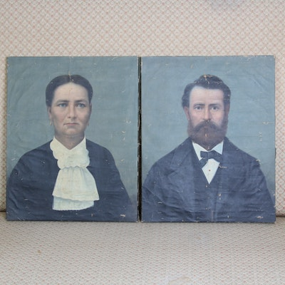 American School Oil Portraits, Early 20th Century