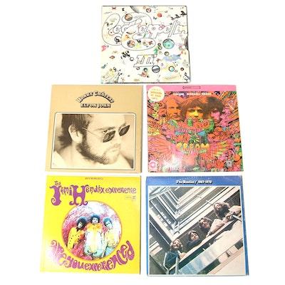 The Beatles, Cream, Jimi Hendrix, and Other Vinyl Records