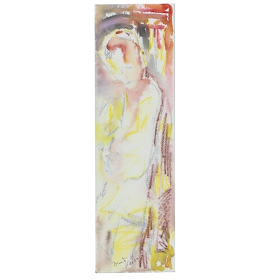 Murat Kaboulov Watercolor Sketch of Abstract Figure