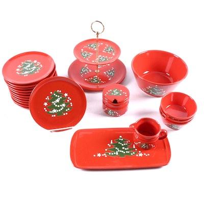 "Waechtersbach ""Christmas Tree"" Tableware, Late 20th Century"