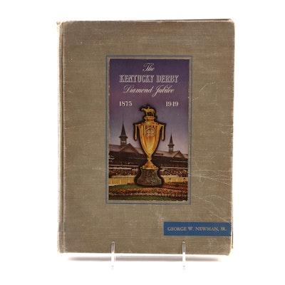 """""""The Kentucky Derby Diamond Jubilee, 1875–1949"""" by Brownie Leach, 1949"""