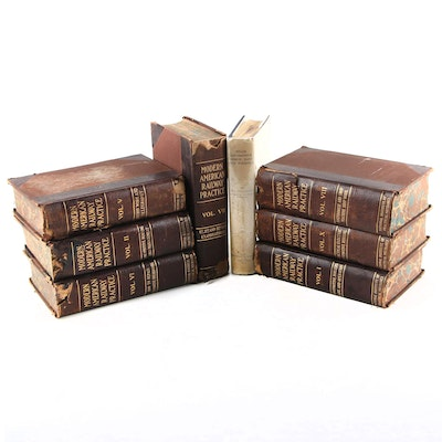 "Partial First Edition Set ""Modern American Railway Practice"" and More, 1900s"