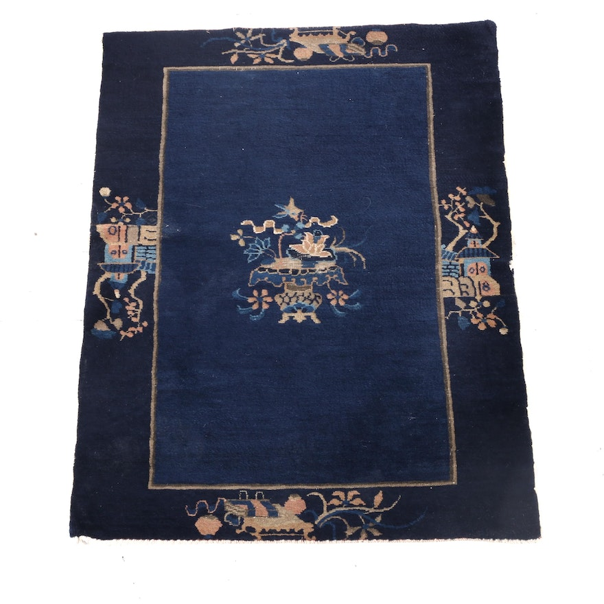 3'0 x 4'8 Hand-Knotted Chinese Peking Wool Rug