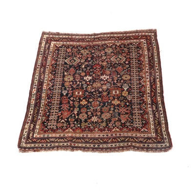4'10 x 5'10 Hand-Knotted Persian Senneh Wool Rug