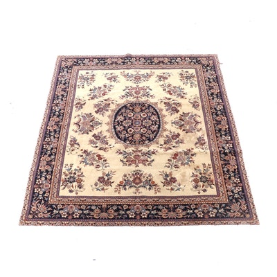 8'0 x 9'7 Hand-Knotted Indo-Persian Floral Wool Rug