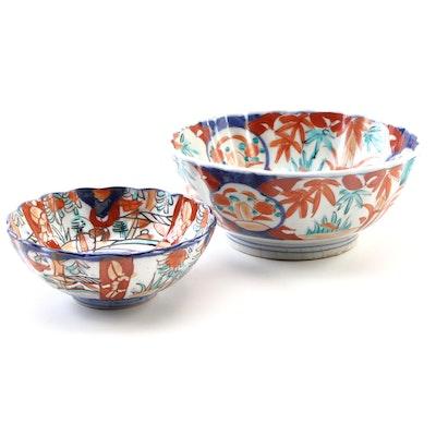 Japanese Imari Floral Porcelain Bowls