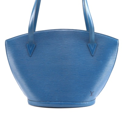 Louis Vuitton St. Jacques GM Shoulder Bag in Toledo Blue Epi Leather
