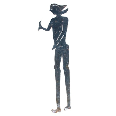 Seresier Louis-Juste Haitian Metal Art Sculpture of Abstract Figure