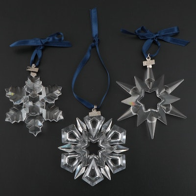 Swarovski Crystal Christmas Ornaments, Late 20th Century