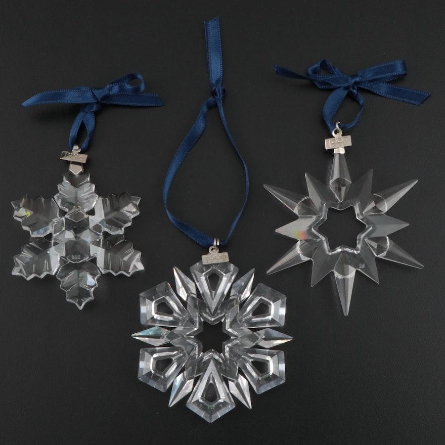 Swarovski Crystal Christmas Ornaments, Late 20th Century