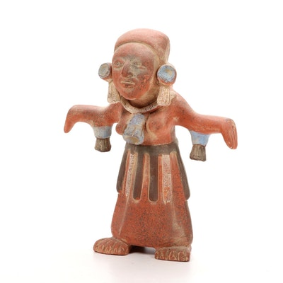 Pre-Columbian Style Female Figural Terracotta Vessel