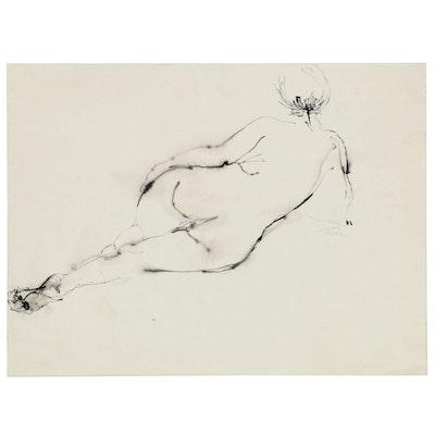 John Tuska Figure Drawing of Female Nude