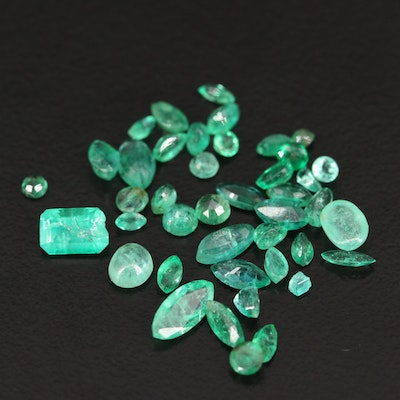 Loose 4.71 CTW Emerald Selection Featuring Various Shapes