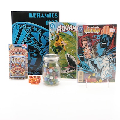 """Aquaman"" and ""Batman"" Comics, ""Politicards"" and Other Collectibles"