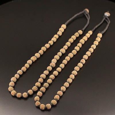 Twin Hand Knotted Beaded Necklaces