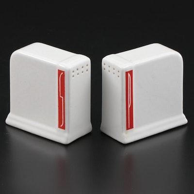 Art Deco Ceramic Salt and Pepper Shakers