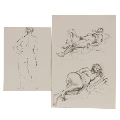John Tuska Figure Drawings of Female Nudes