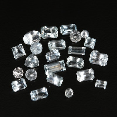 Loose 4.68 CTW Aquamarines Featuring Various Faceted Shapes