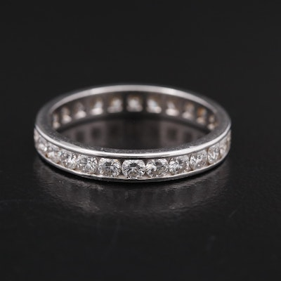 14K 1.23 CTW Channel Set Diamond Eternity Band