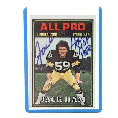 1974 Jack Ham NFL Hall of Fame Linebacker Hand-Signed Topps Football Card