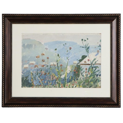 Grigoryi Andryievitch Shponko Abstract Oil Painting of Garden Flowers