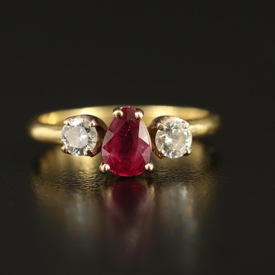 14K and 18K Ruby and Diamond Ring