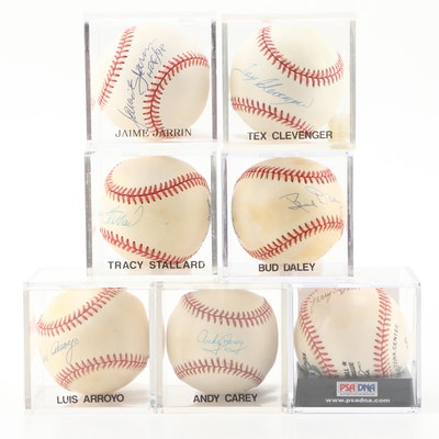 Signed Baseballs, Jerry Lynch, Tracy Stallard, Andy Carey, Luis Arroyo, and More