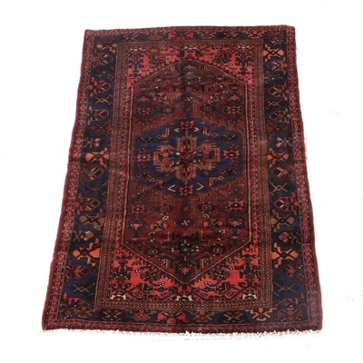 4'4 x 7'4 Hand-Knotted Persian Josheghan Wool Rug