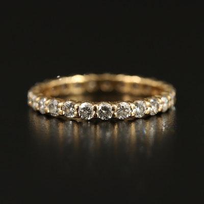 18K 1.08 CTW Diamond Prong Set Eternity Band