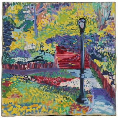Jerry Mironov Expressionist Style Landscape Oil Painting