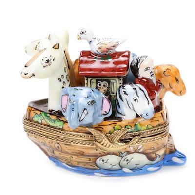 La Gloriette Hand-Painted Ark Porcelain Limoges Box