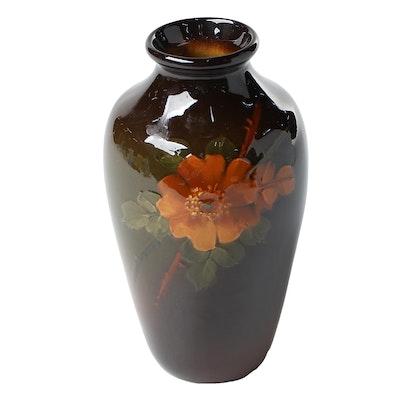 Weller Louwelsa Standard Glaze Earthenware Floral Vase, Late 19th/Early 20th C.