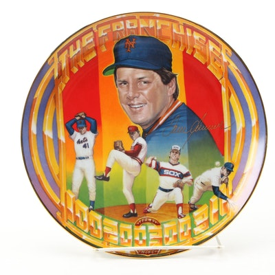 Sports Impressions Tom Seaver Mets Collector's Plate by Ron Lewis, 1989