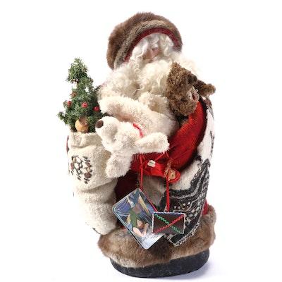 """Santa Holding Toy Sack Including """"Hunchback of Notre Dame"""" Children's Book"""