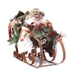 Santa On Sleigh Table Decoration